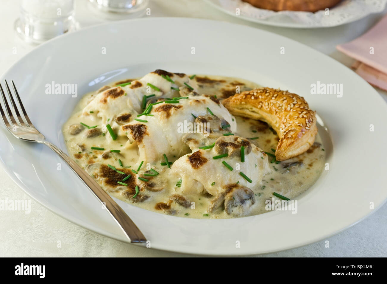 Sogliola bonne femme Francia cibo Immagini Stock