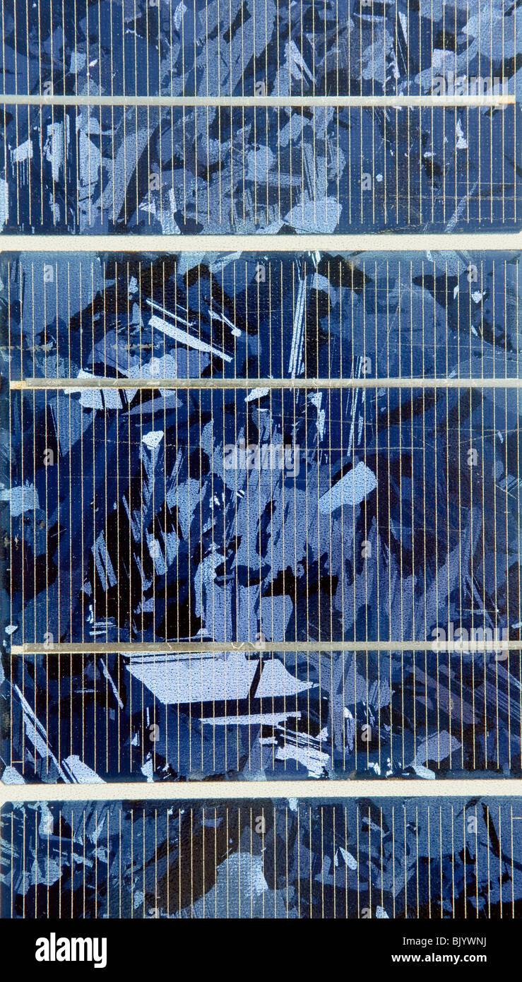 In primo piano del modulo solare Immagini Stock