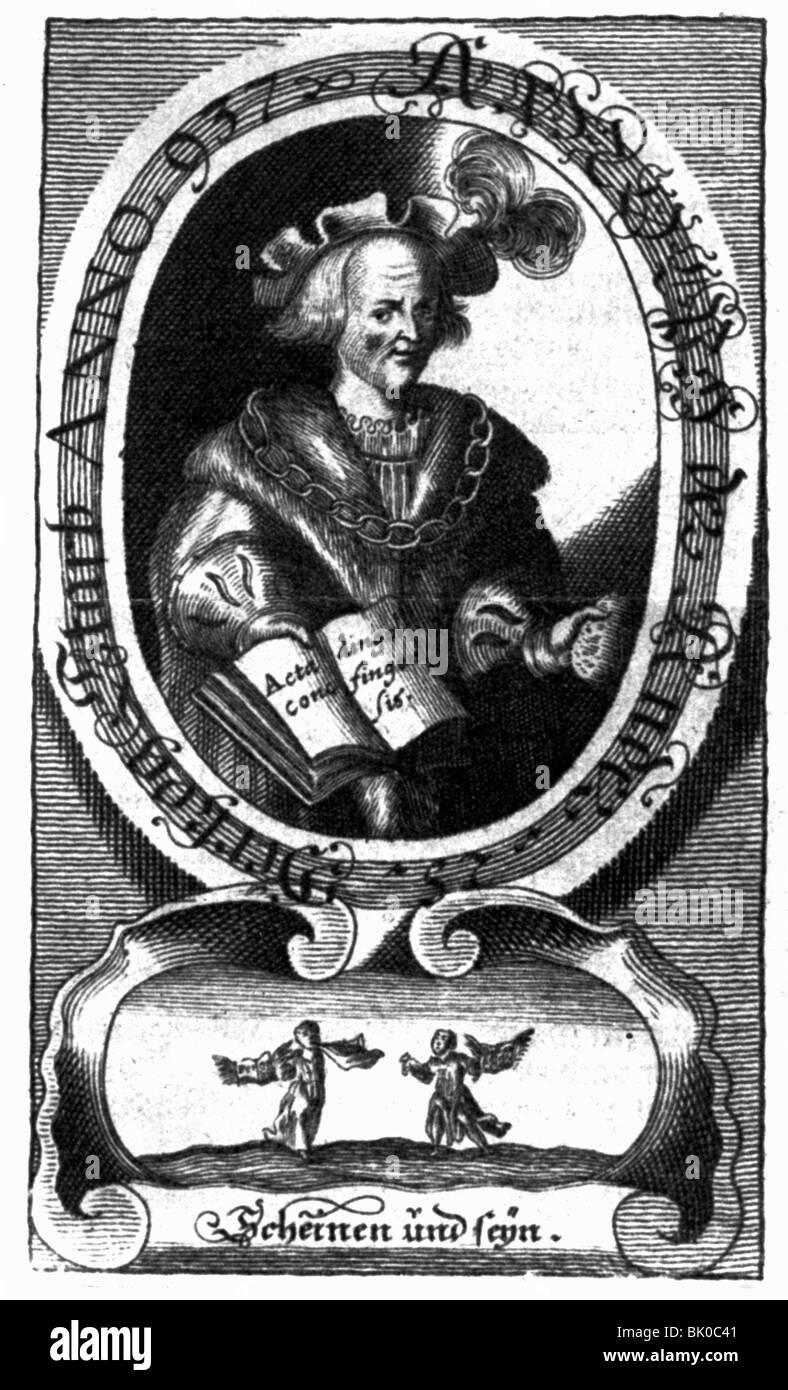 """Arnulf I """"male"""", circa 885/890 - 14.7.937, duca di Baviera 907 - 937, a mezza lunghezza e incisione su Immagini Stock"""