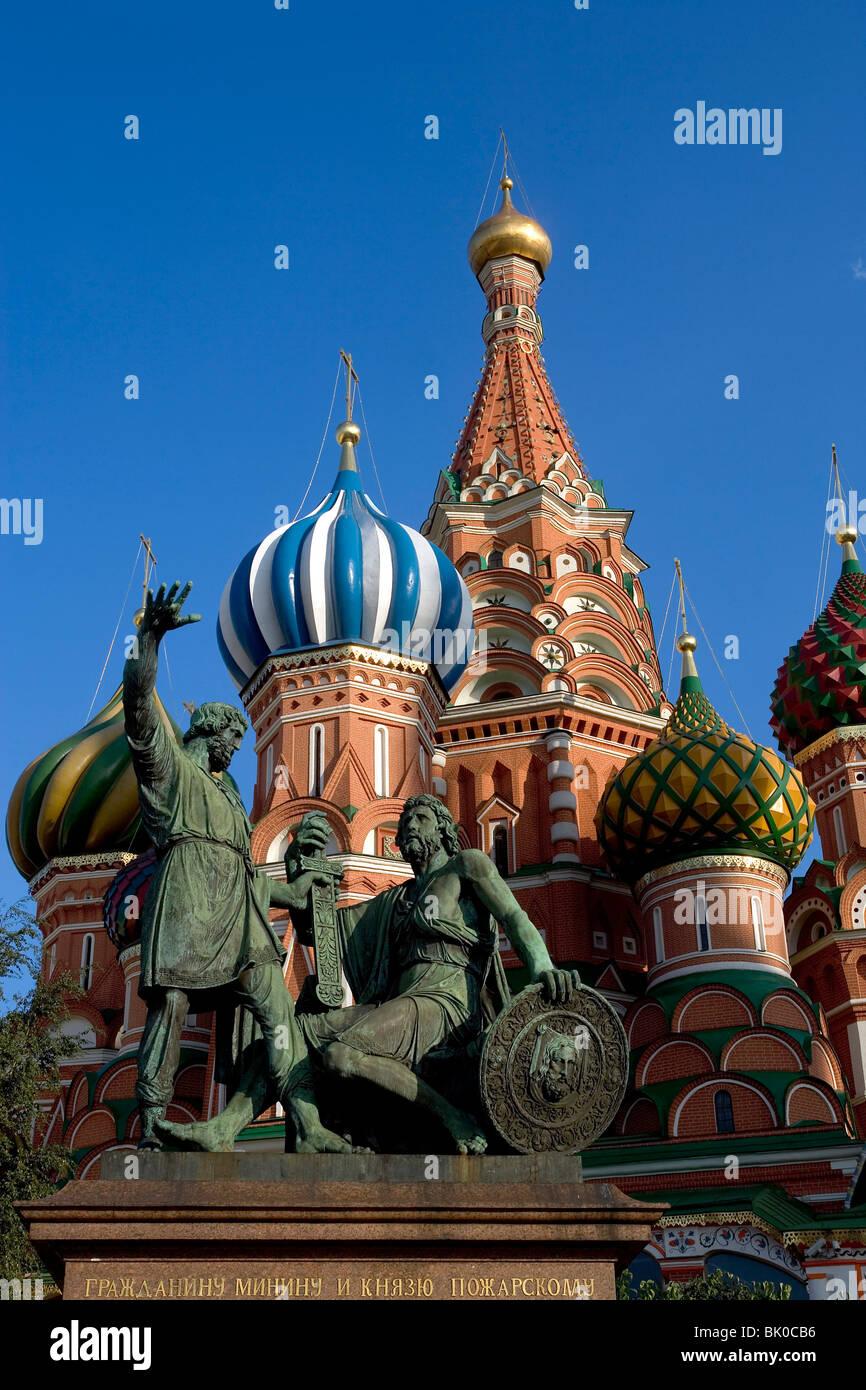 La Russia,Mosca,la Piazza Rossa, la Cattedrale di Vasily beata Immagini Stock
