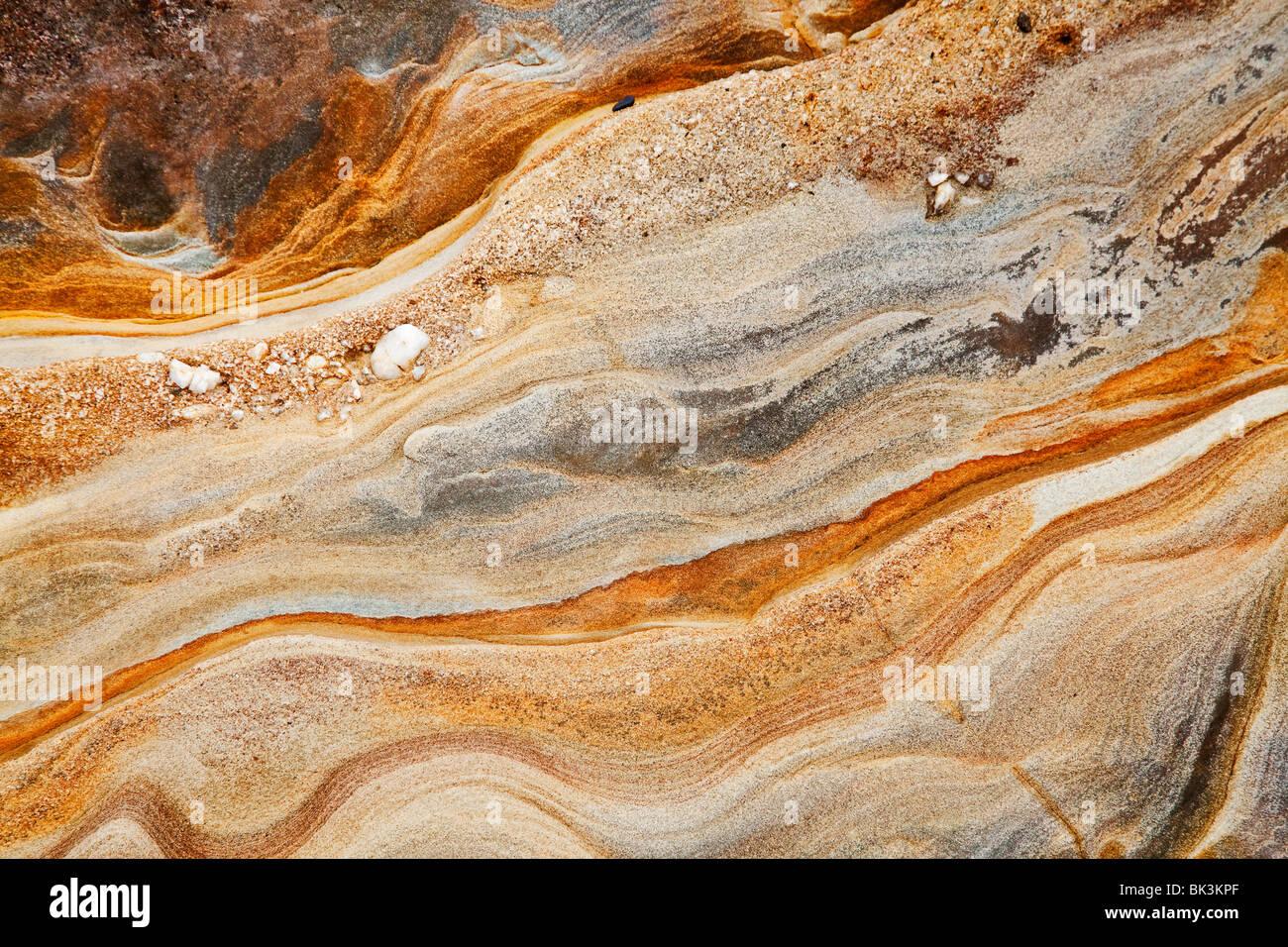 Roccia sedimentaria sfondo Immagini Stock