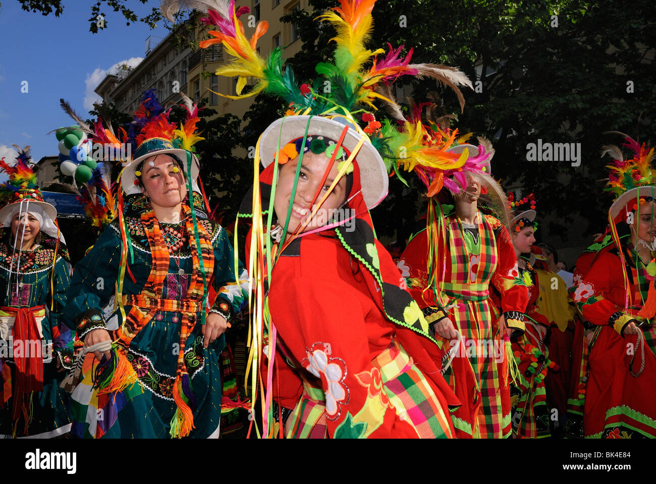 Karneval der Kulturen, il Carnevale delle culture di Berlino, quartiere di Kreuzberg, Germania, Europa. Immagini Stock