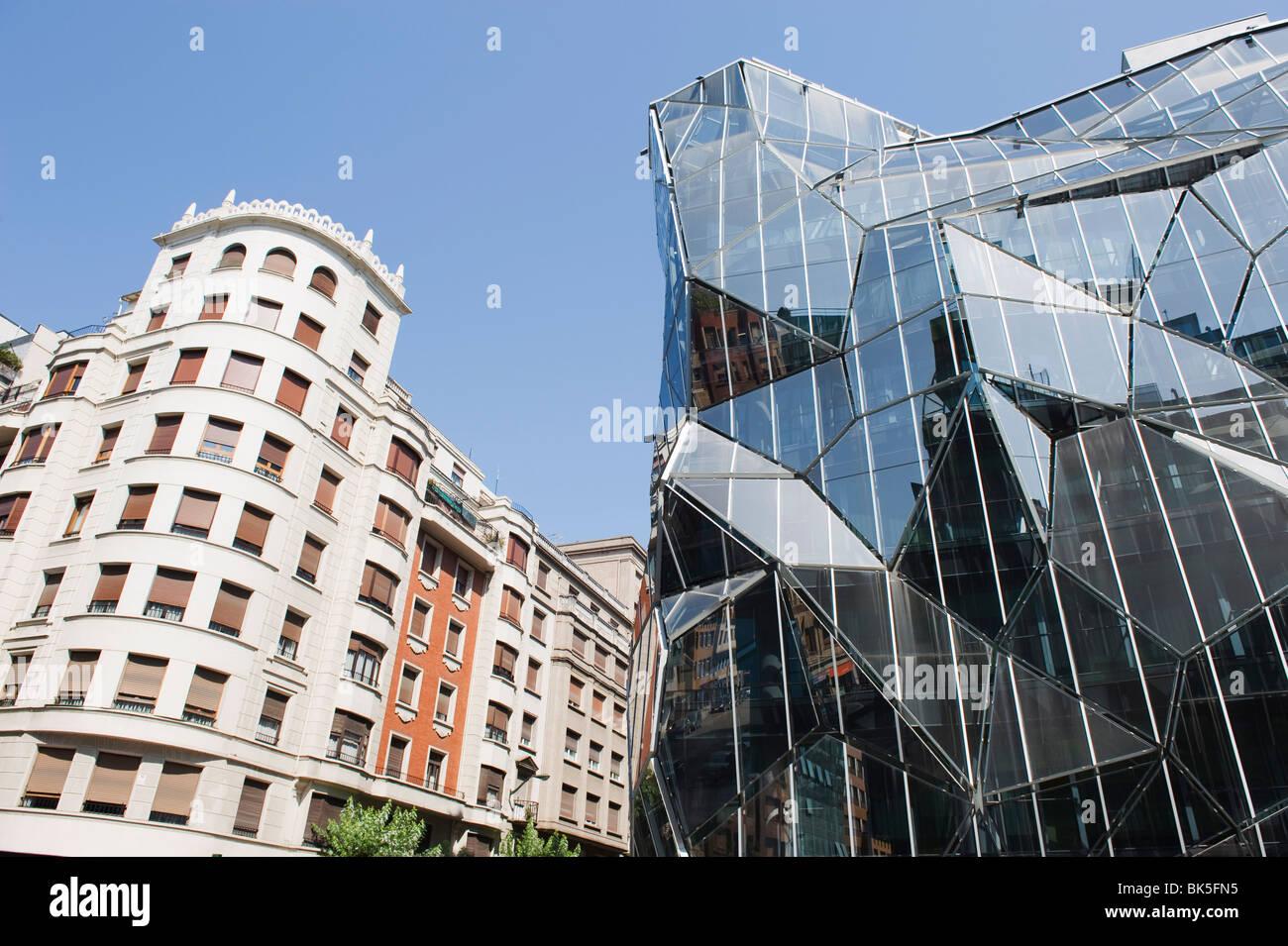 Architettura moderna del Dipartimento della Salute, Bilbao, Paesi Baschi, Spagna, Europa Immagini Stock