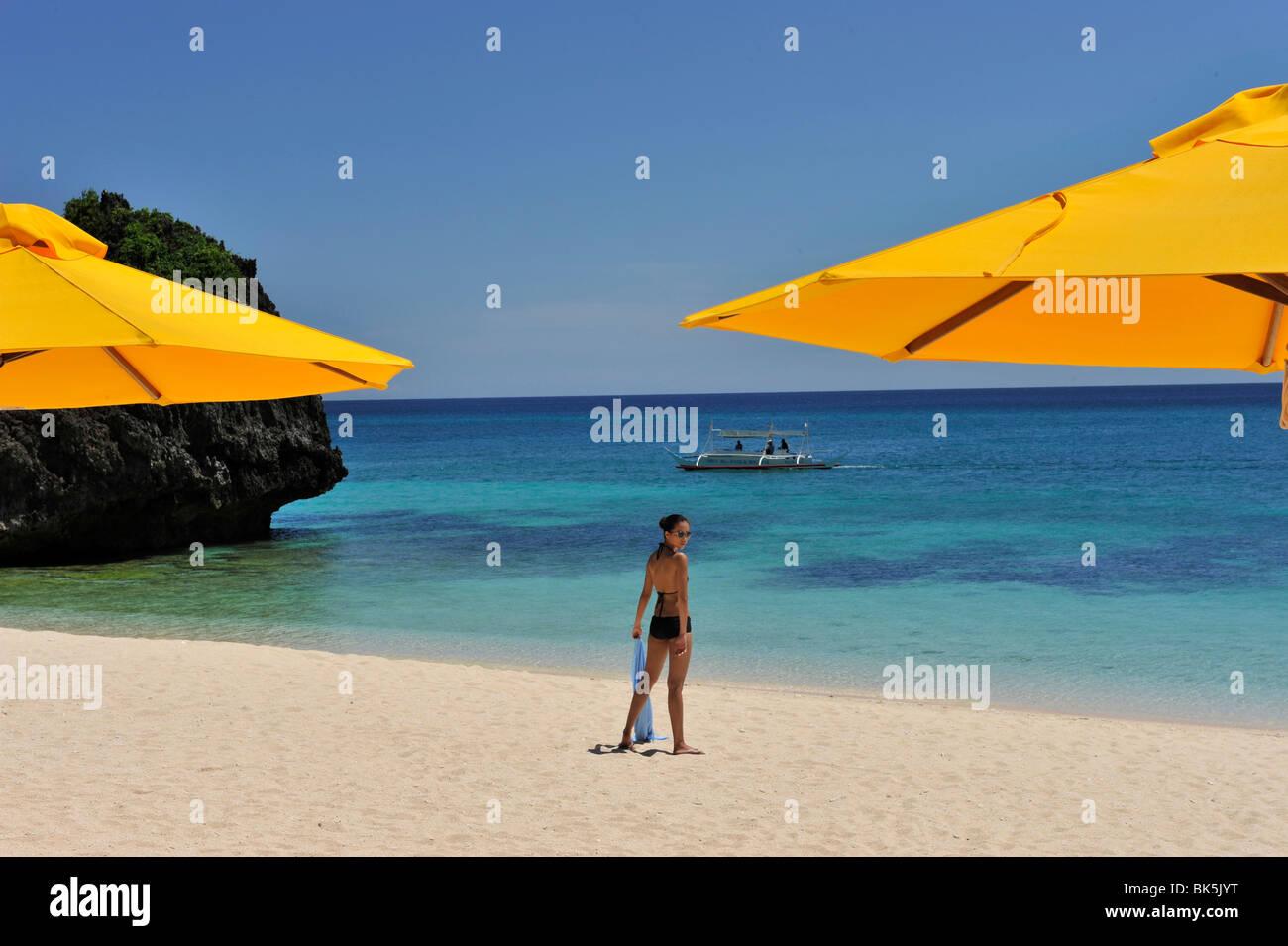 Spiaggia, Shangri La Boracay Resort and Spa in Boracay, Filippine, Sud-est asiatico, in Asia Immagini Stock