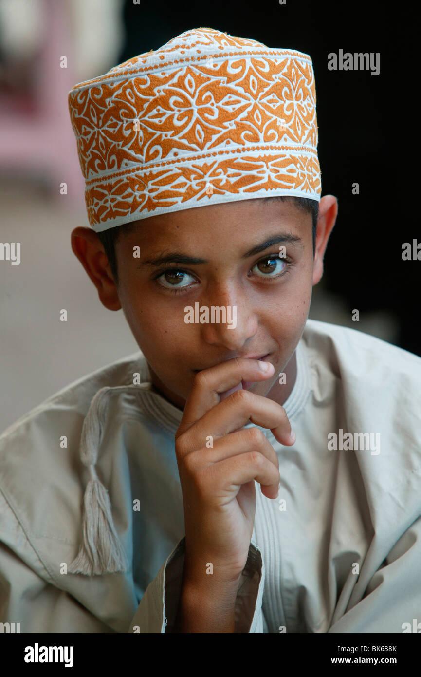 Oman boy, Muscat Oman, Medio Oriente Immagini Stock