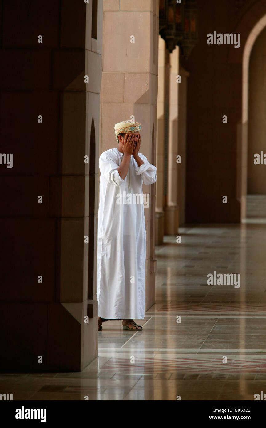 Il sultano Qaboos Grande Moschea, Muscat Oman, Medio Oriente Immagini Stock