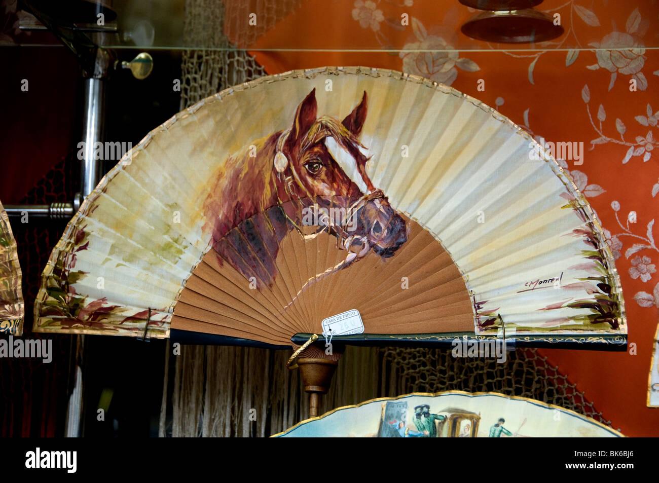 Spagna - Spagnolo Ventole ventola sagomato dipinto artista pittore mano Immagini Stock