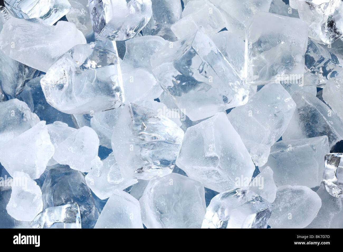 Sfondo in forma di cubetti di ghiaccio Immagini Stock