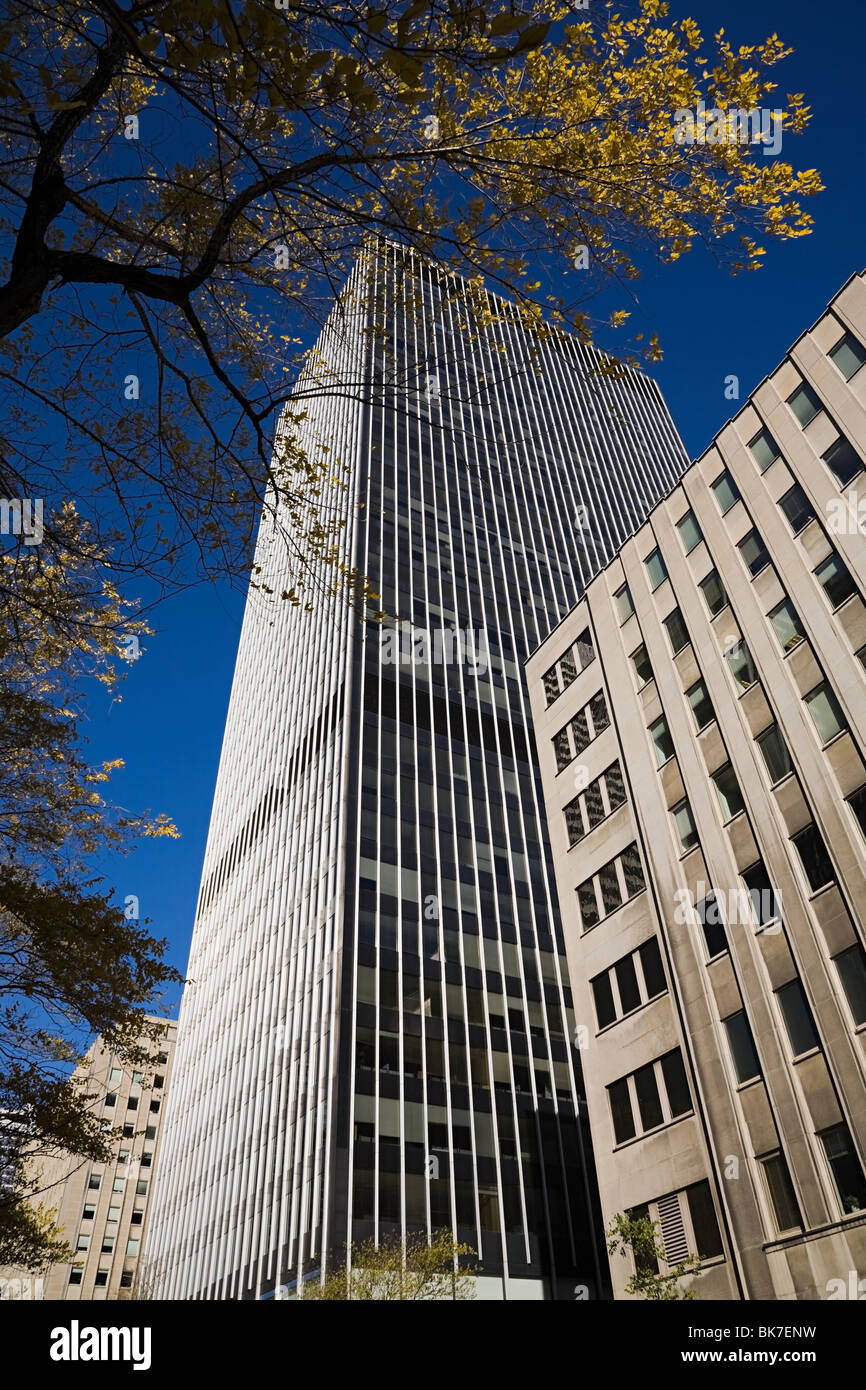 Edifici per uffici nel centro di Montreal Immagini Stock