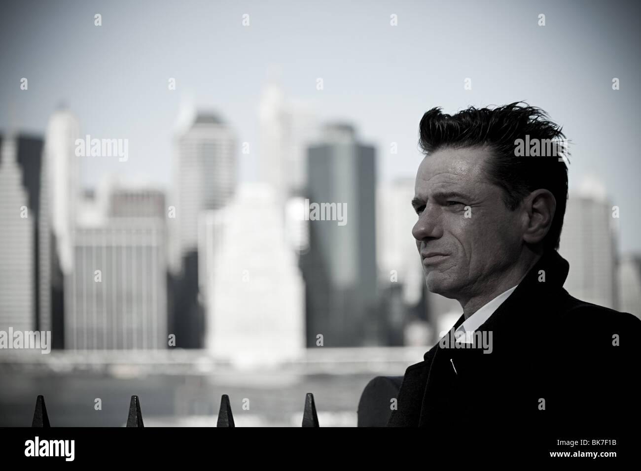 L uomo nella città di new york Immagini Stock