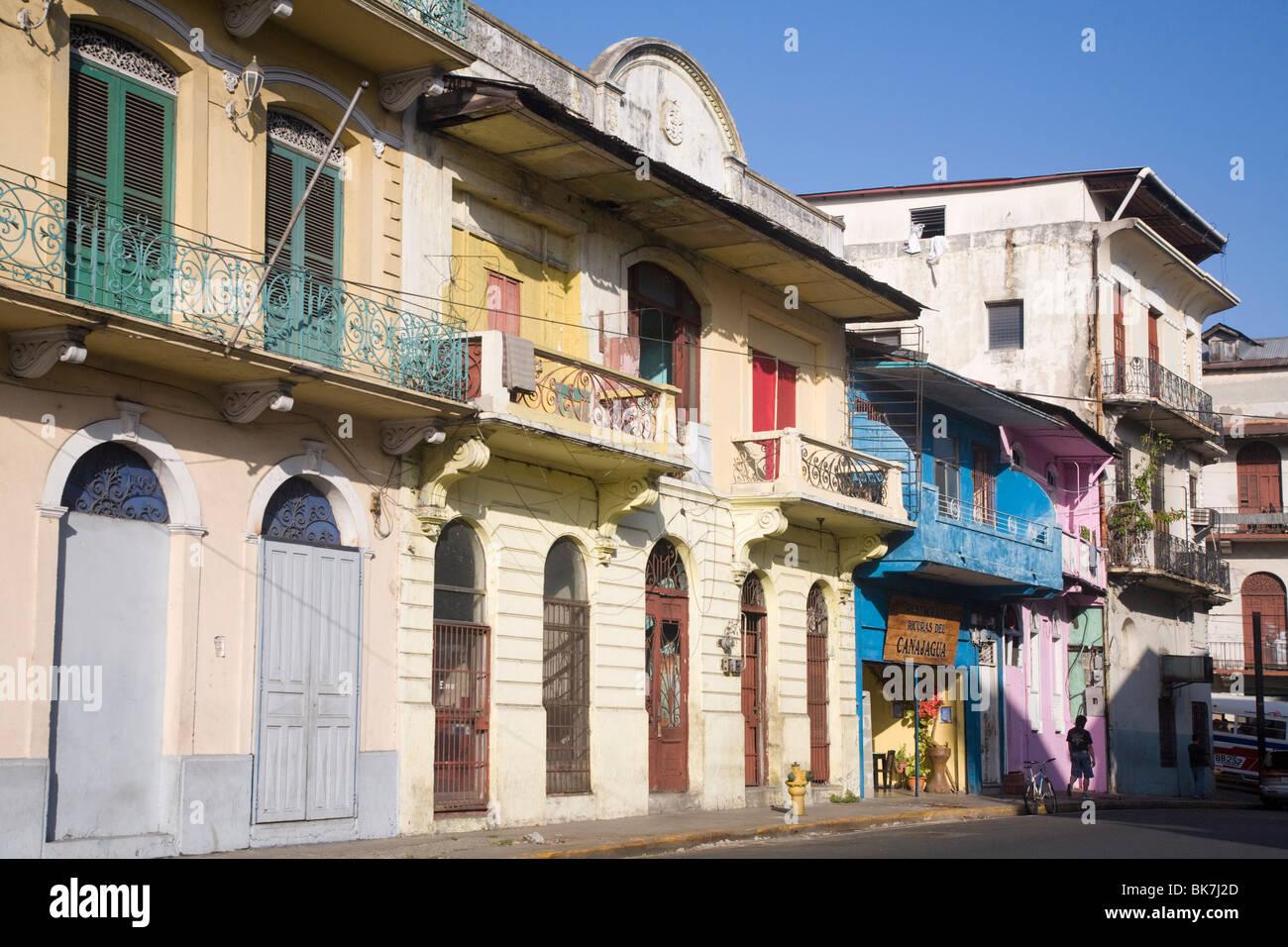 Strada nel Casco Viejo, Panama City, Panama America Centrale Immagini Stock