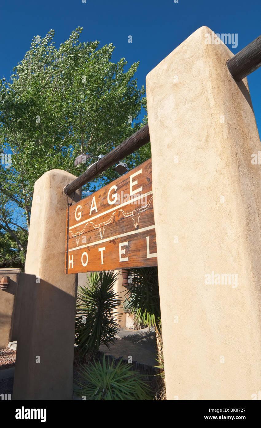 Texas, maratona, Gage Hotel, West Texas Historic landmark alloggio dal 1927 Immagini Stock