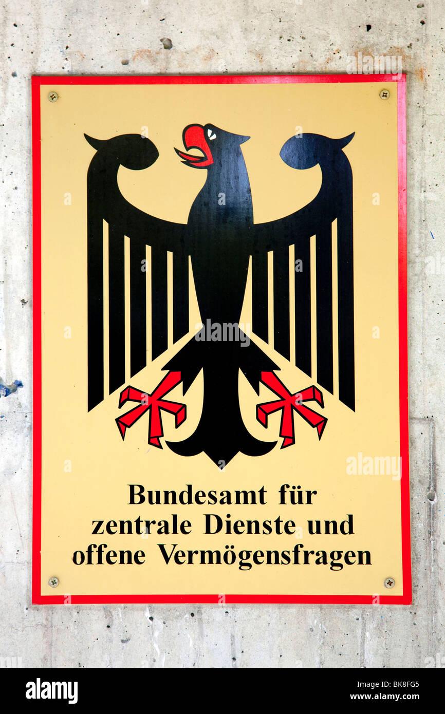 Segno Ufficio federale per i servizi centrali e aprire Proprietà questioni, con sede in Bad Homburg von der Immagini Stock