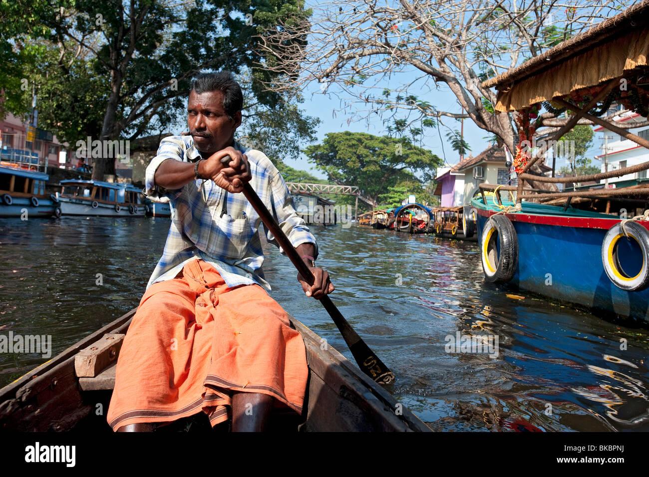 Alleppey backwater, Kerala, India Immagini Stock