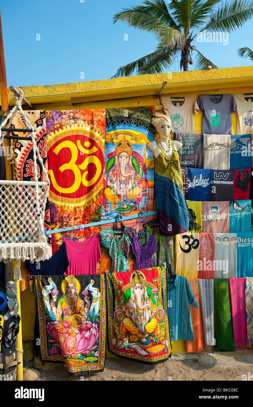 Spiaggia locale shop, Kovalam, Kerala, India Immagini Stock