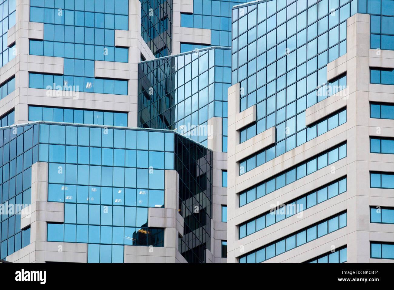 Dettaglio della moderna architettura dell'hotel Westin San Diego hotel nel centro cittadino di San Diego in Immagini Stock