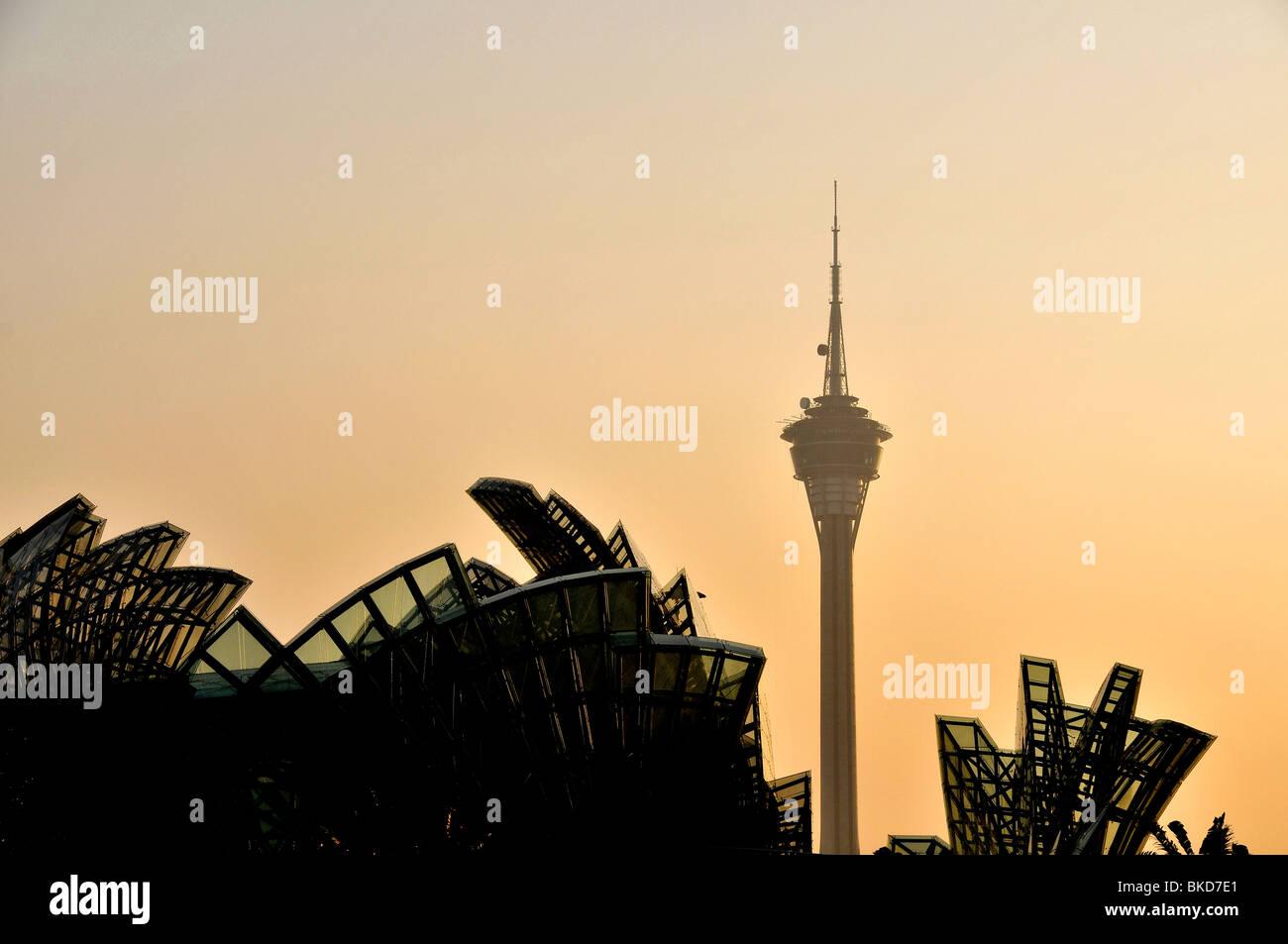Torre panoramica, Macau, Cina Immagini Stock