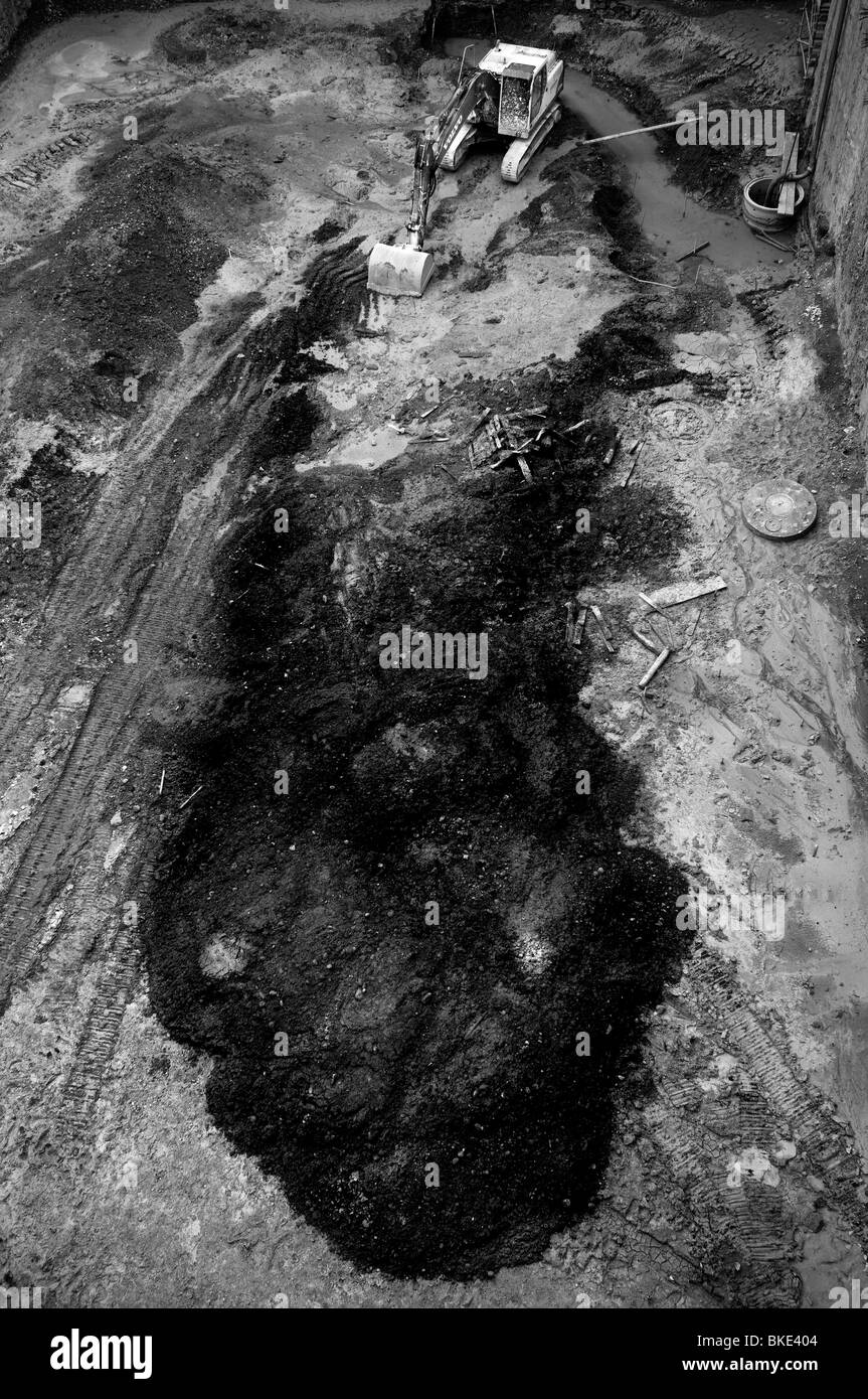 Inquinamento dovuto a fuoriuscite di petrolio Immagini Stock