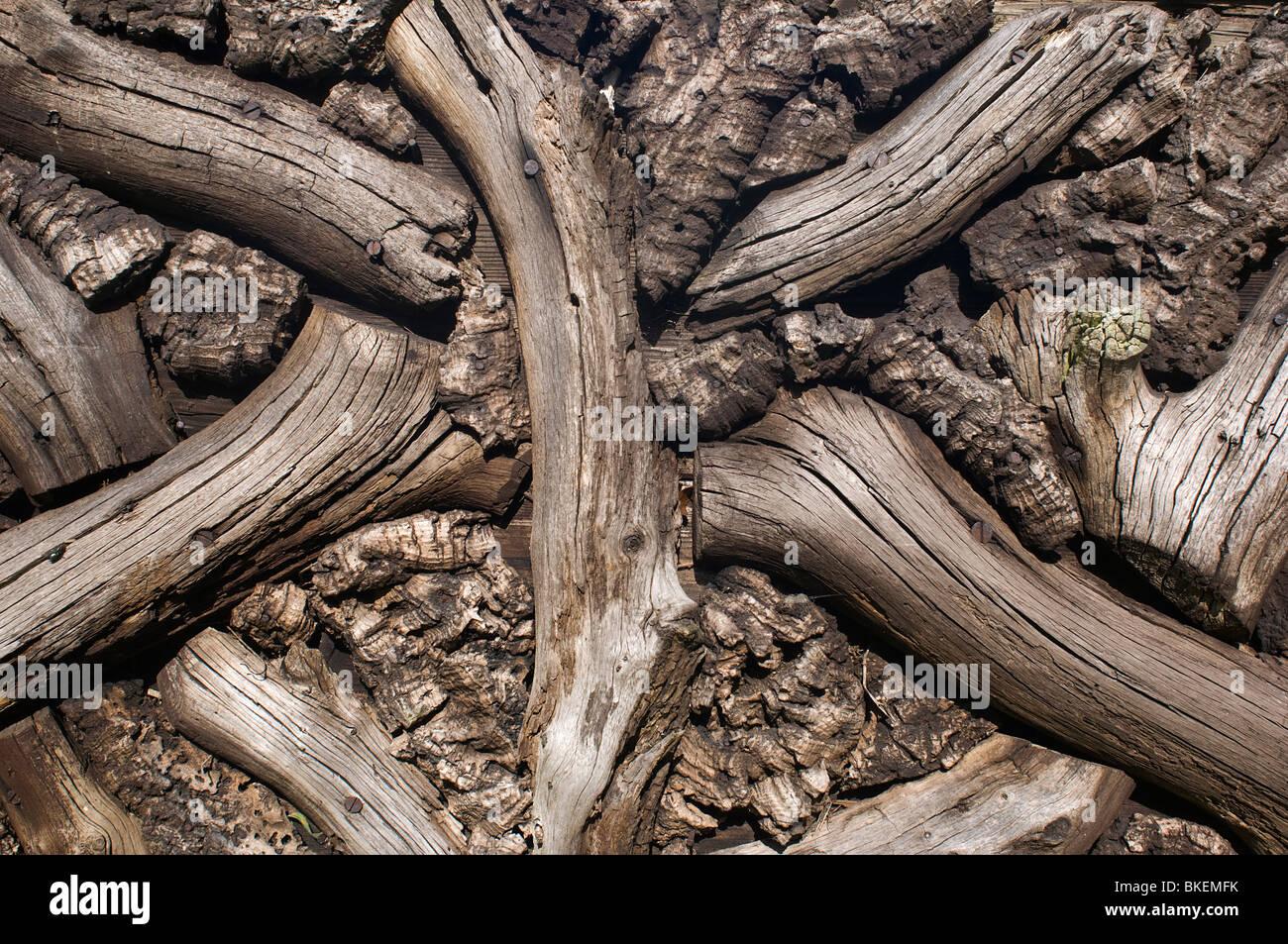 Reticolo di legno Foto Stock