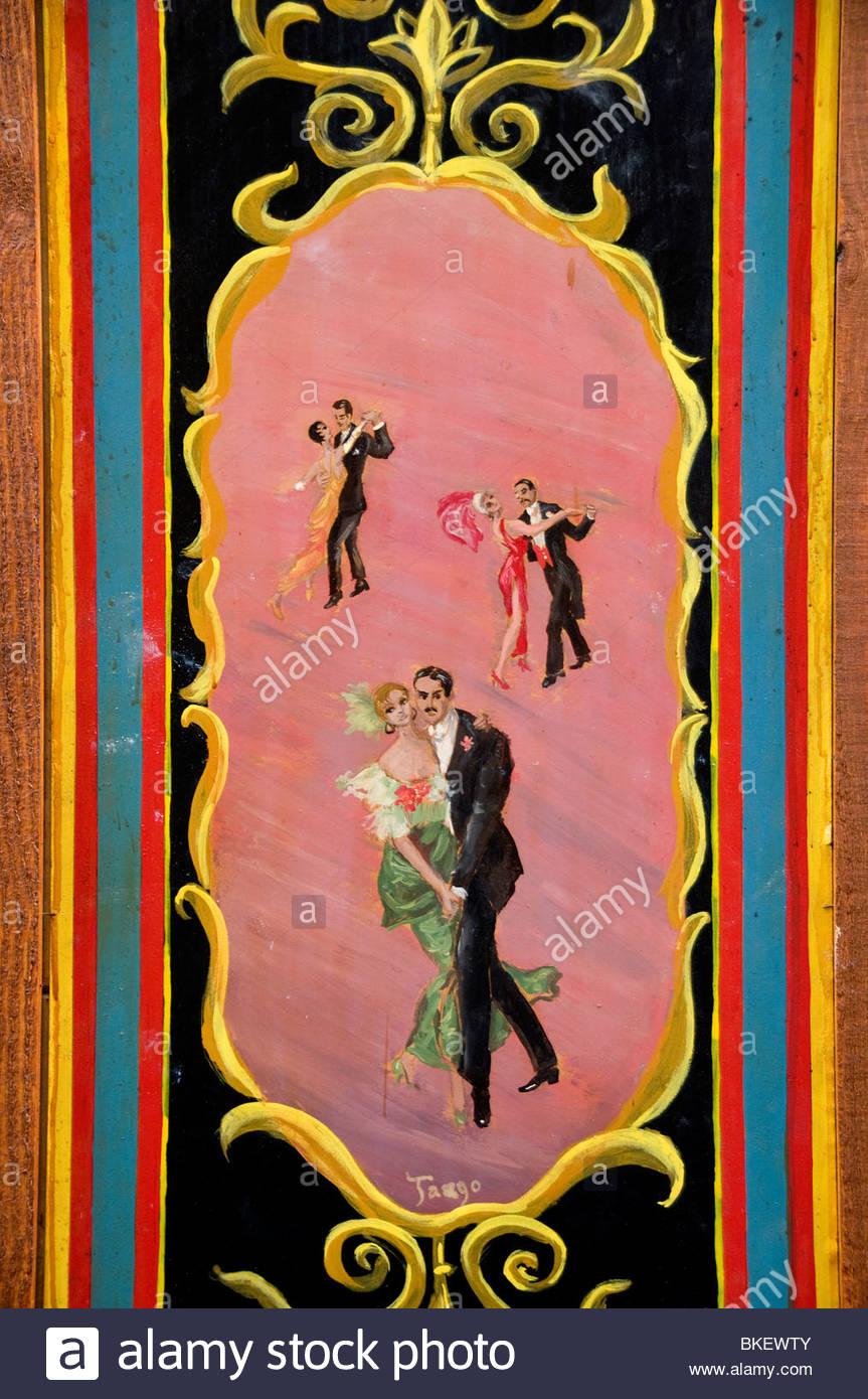 Tango Buenos Aires Argentina La Boca El Caminito Tango e danza Immagini Stock