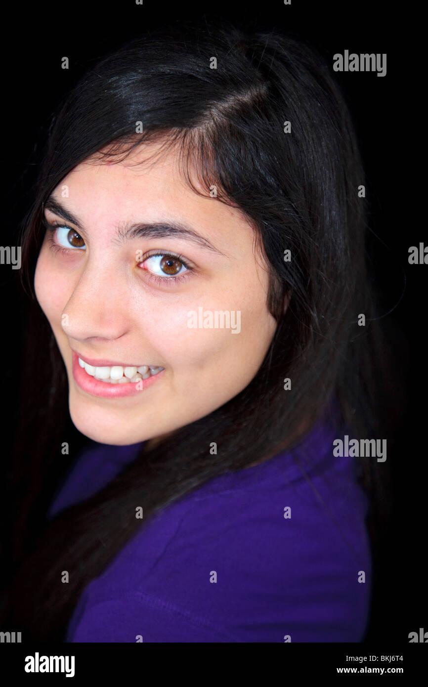 Ritratto di una ragazza adolescente Immagini Stock