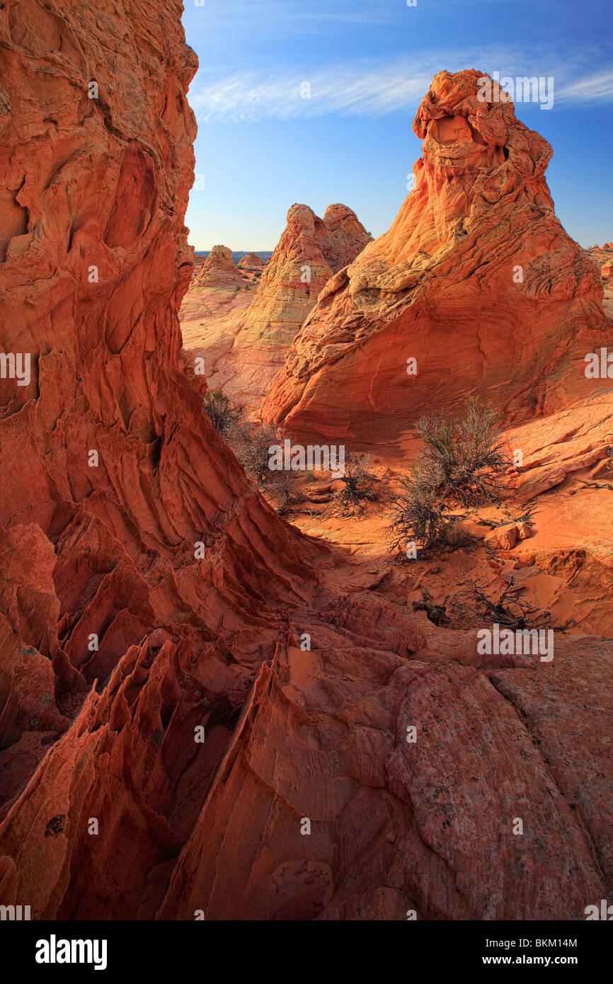 Le formazioni rocciose in Vermiglio scogliere monumento nazionale, Arizona Immagini Stock