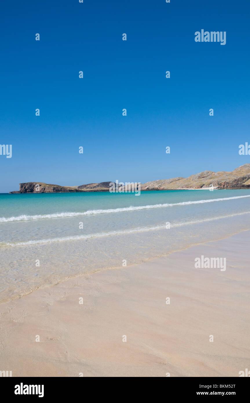 La spiaggia Oldshoremore nr Kinlochbervie Sutherland Highland Scozia Scotland Foto Stock