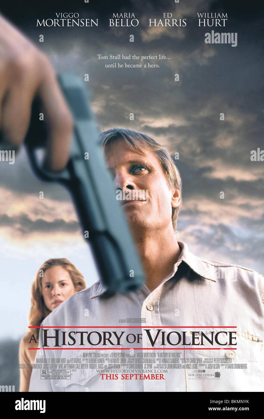 Una storia di violenza (2005) POSTER HOFV 001-22 Immagini Stock