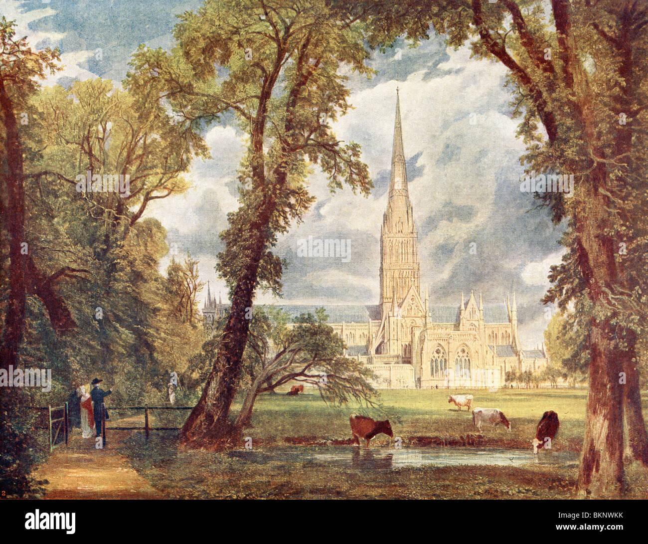 La Cattedrale di Salisbury Foto Stock