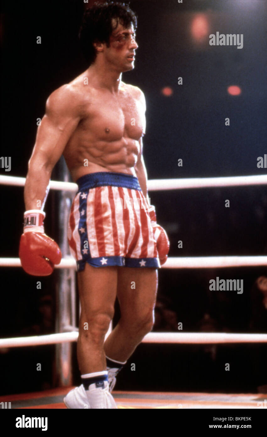 ROCKY IV (1985) Sylvester Stallone RK4 109 Immagini Stock