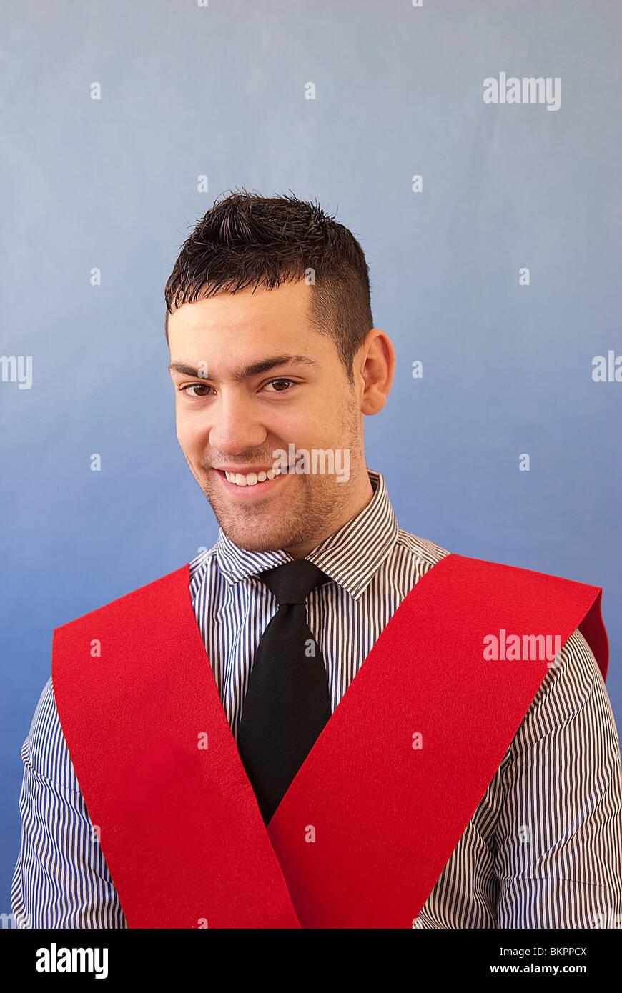 Ritratto di uno studente universitario. Immagini Stock