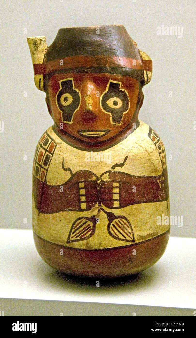 Nazca 100 BC 700 annuncio peruviana Perù i vettori di merci Immagini Stock