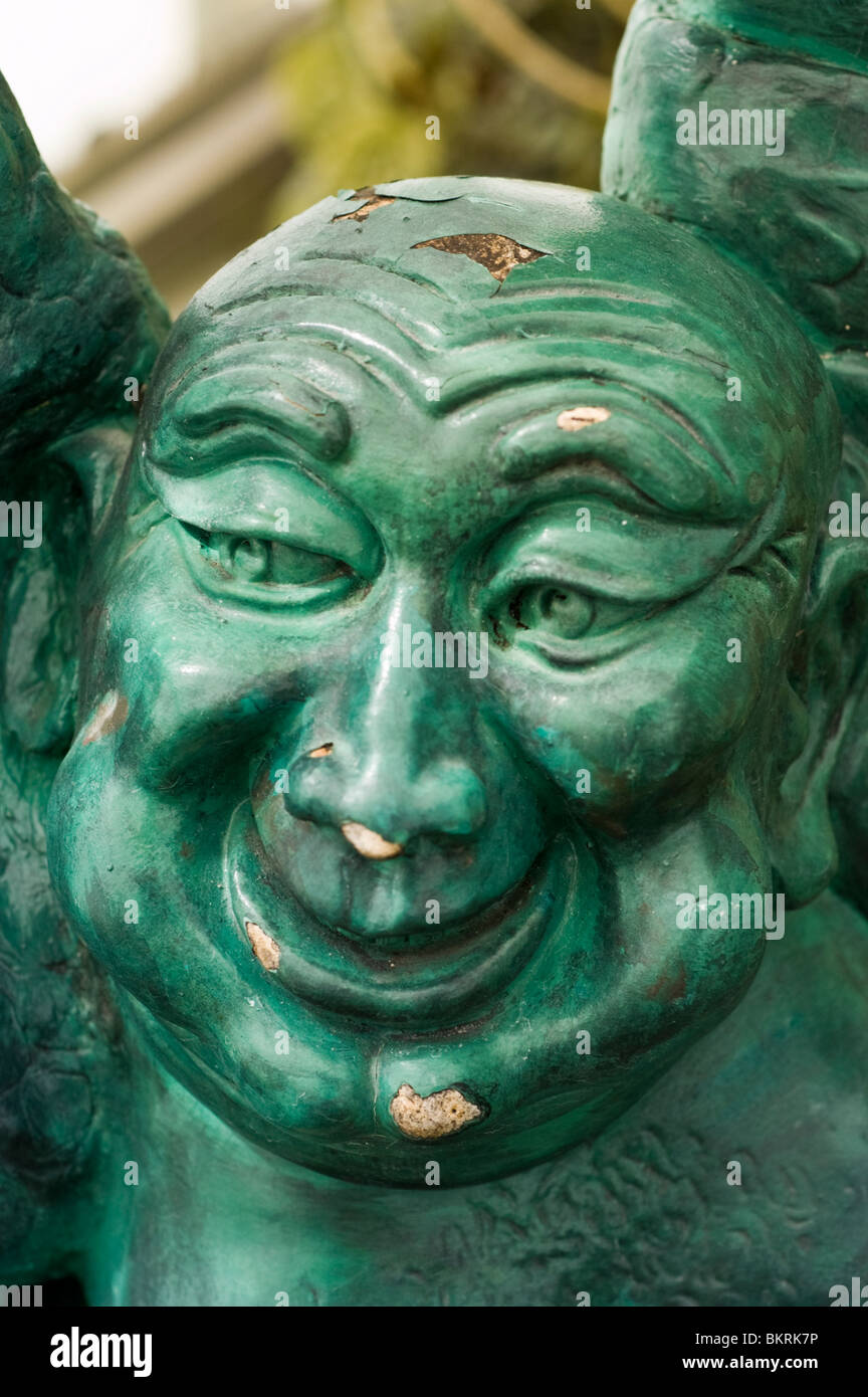 Statua di Pu-tai, il Buddha Sorridente, monaco zen, Monaco Nomade, felicità, buona fortuna, plentitude Immagini Stock