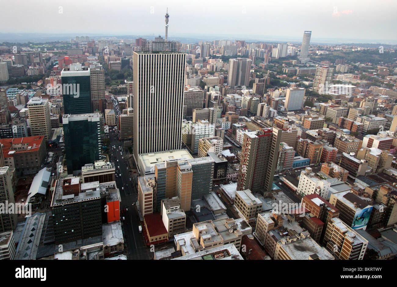 Guardare a Johannesburg, Sud Africa Immagini Stock