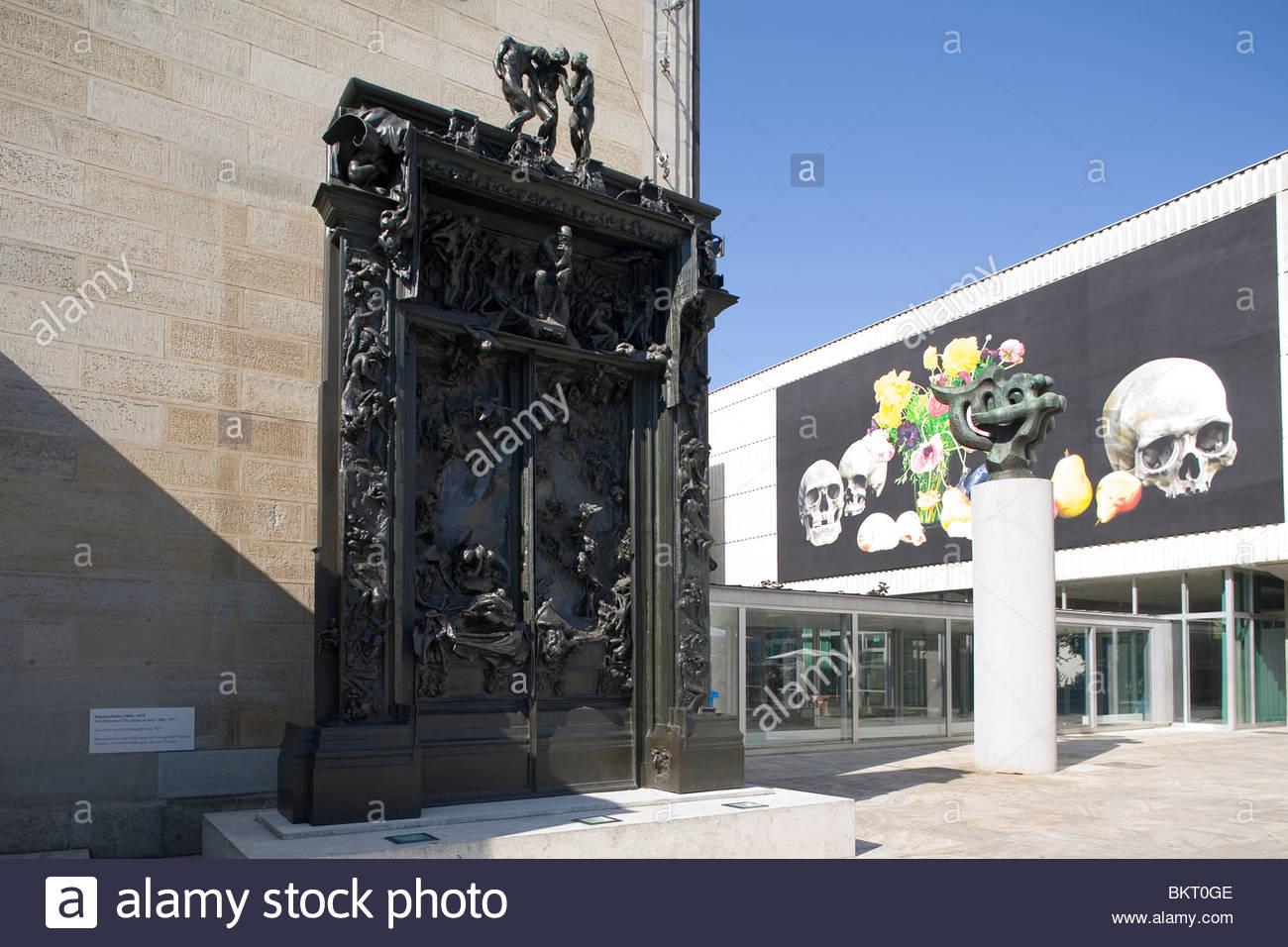 Le porte dell'inferno,scultura di Auguste Rodin,1880-1917,museo d'arte,,Kunsthaus di Zurigo, Svizzera Immagini Stock