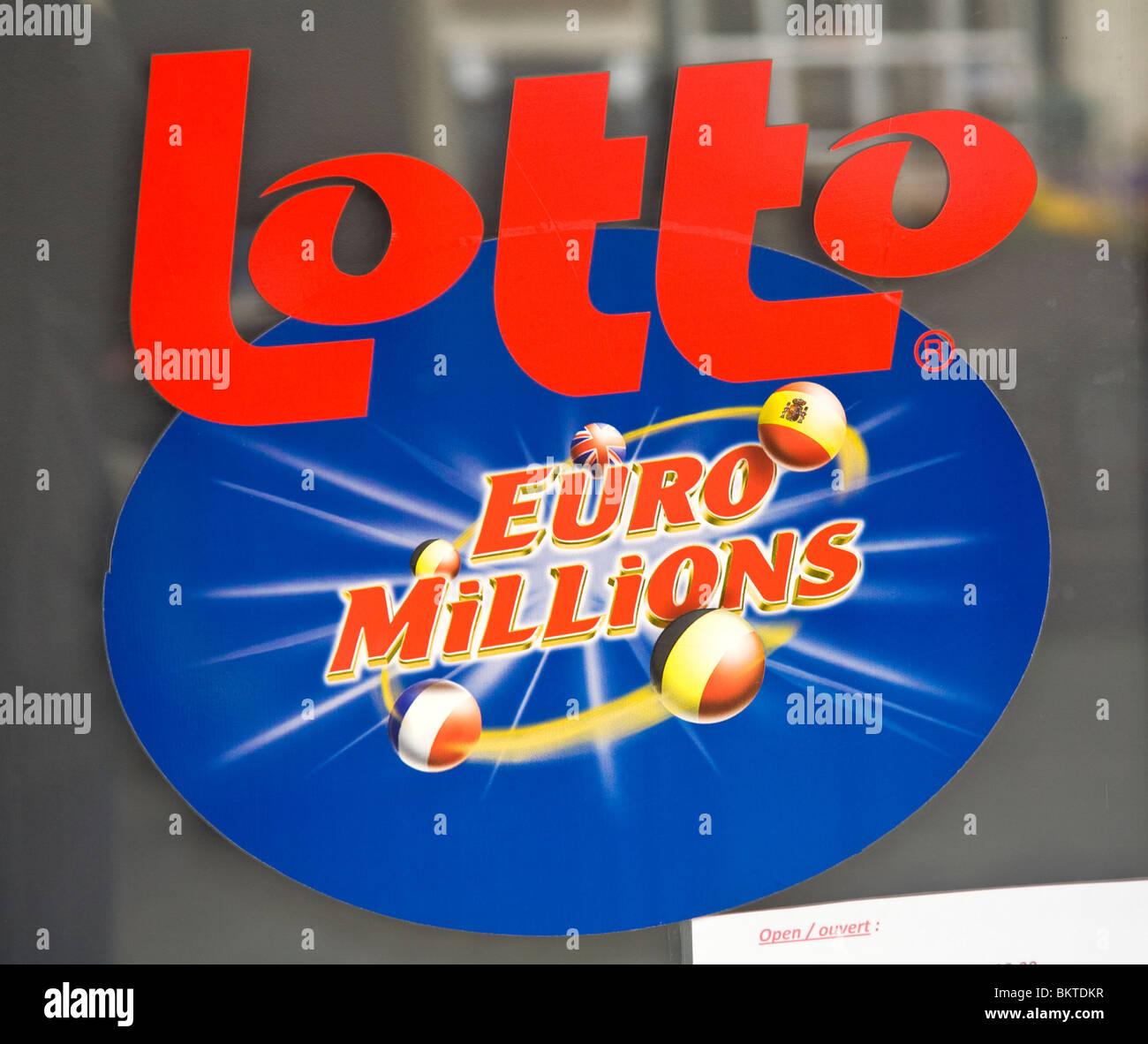 Lotto lotteria Euro segno Immagini Stock