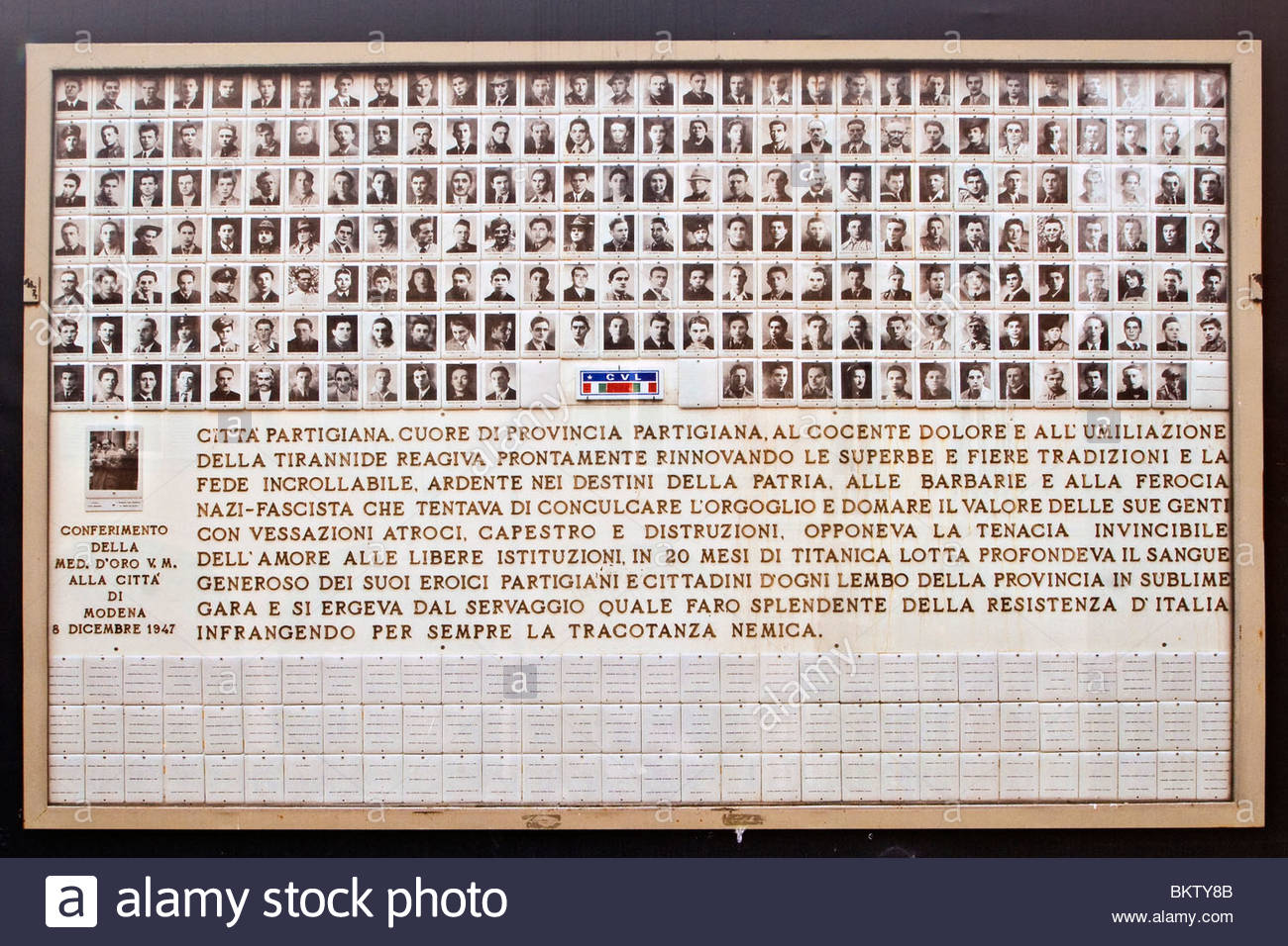 Memoriale di guerra è morta,corpo volontari della libertà,Modena,emilia romagna,Italia Immagini Stock
