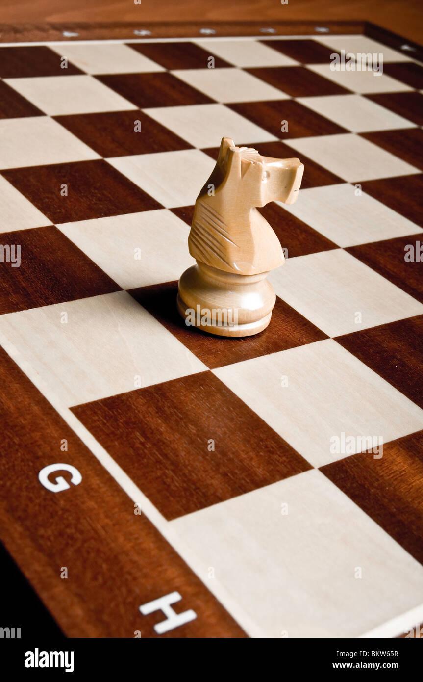Il Cavaliere di scacchi pezzo Immagini Stock