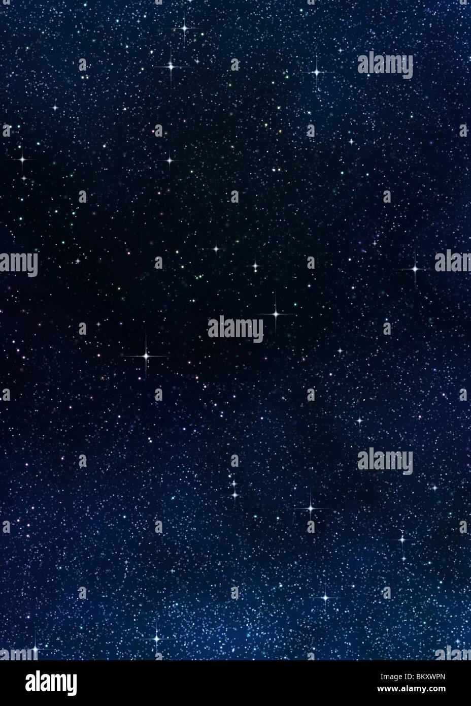 Grande immagine di spazio o di un cielo stellato Immagini Stock