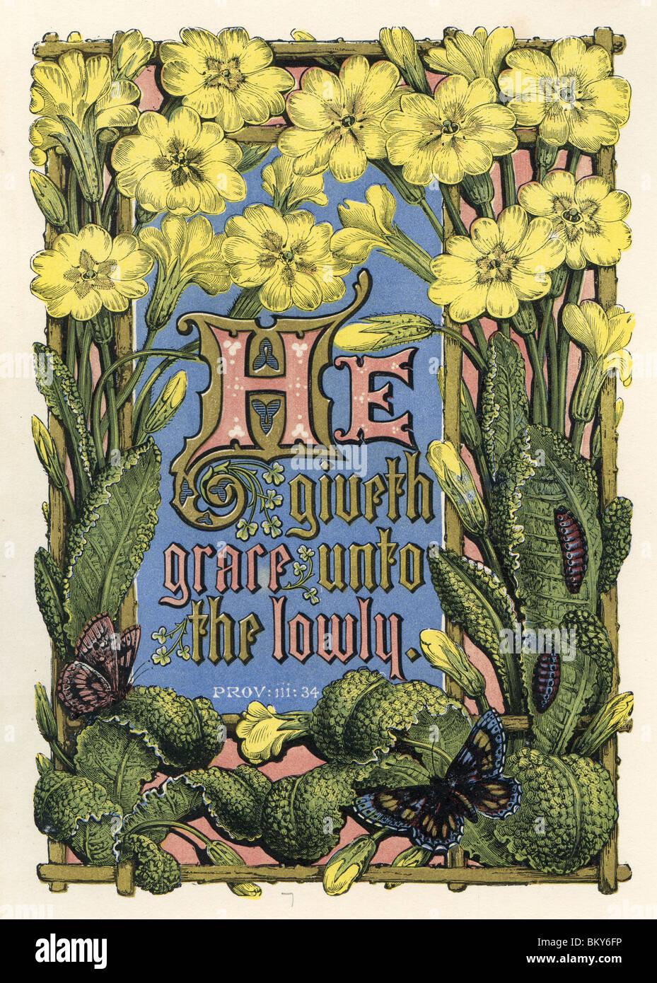 Arte religiosa con fiori di colore giallo Immagini Stock