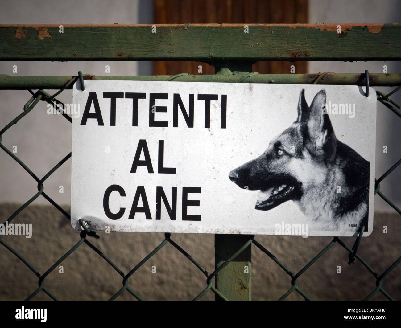 Cartello in italiano Immagini Stock