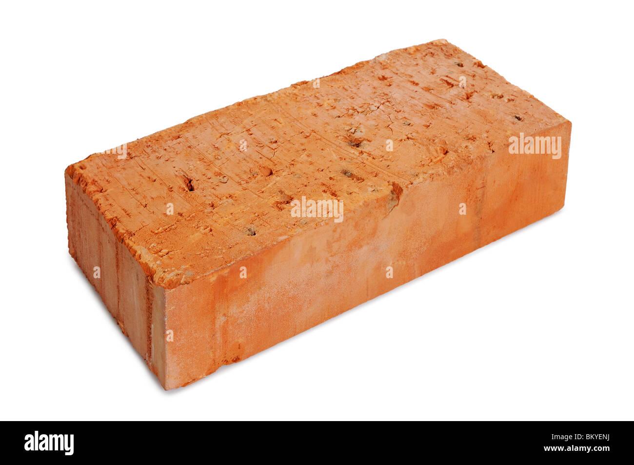 Brick, tagliato fuori. Immagini Stock