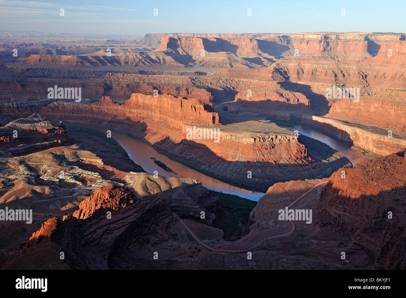 Dead Horse Point State Park - Sunrise, Moab, Utah, Stati Uniti d'America Foto Stock