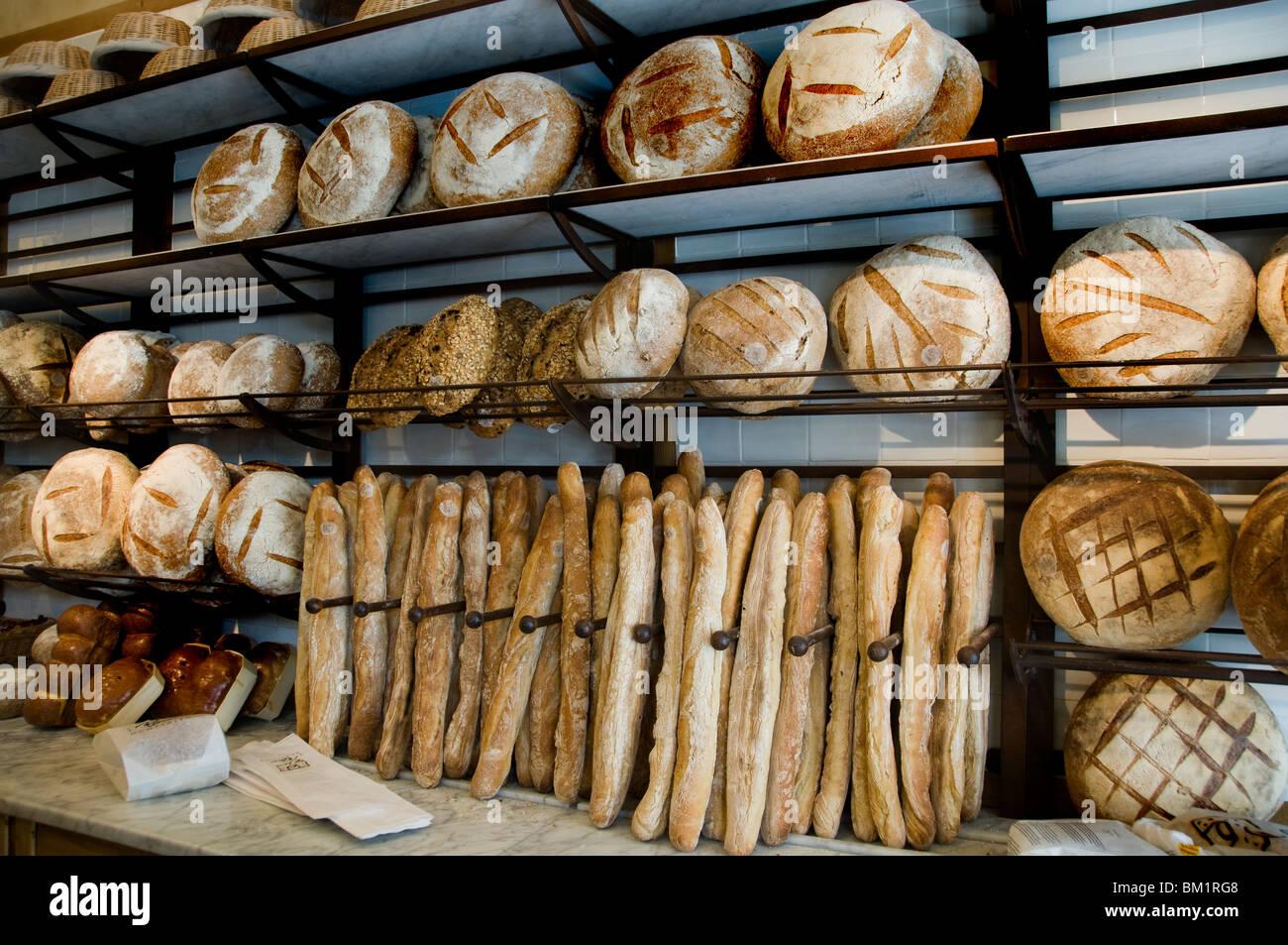 Bruxelles panetteria Boulangerie et tabella comune Bakkerij en Gemeenschappelijke Tafel Belgio Place de Grand Sablon Immagini Stock