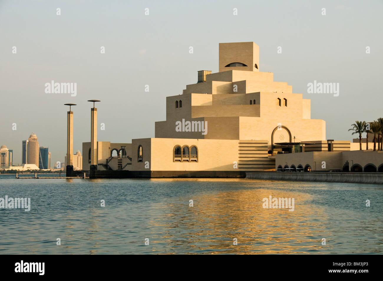 Il Qatar Doha, il Museo di Arte Islamica, I m. Pei architetto 2008 Immagini Stock