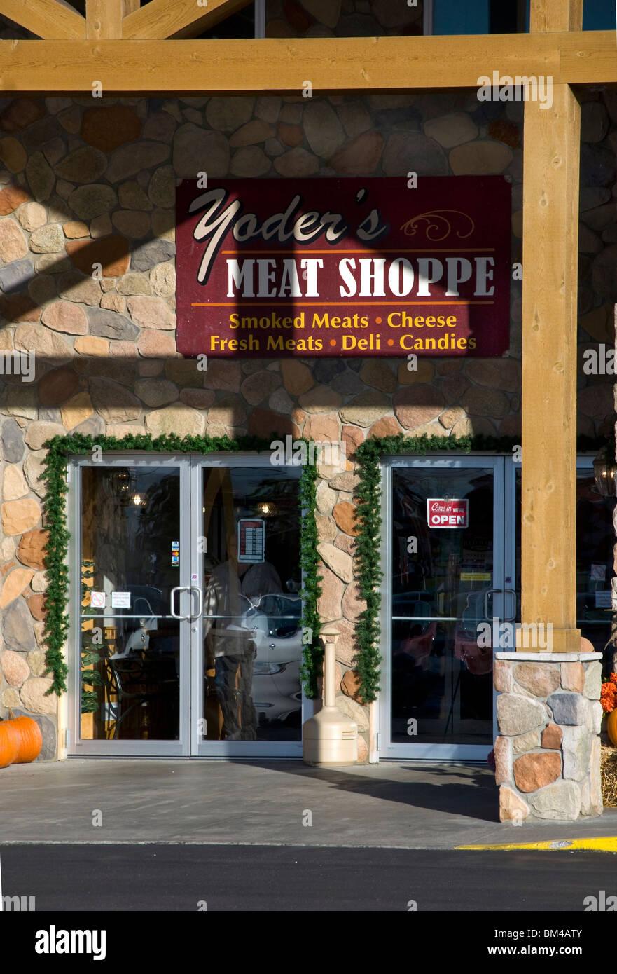 Yoder la carne e il formaggio Azienda in Shipshewana, Indiana Immagini Stock