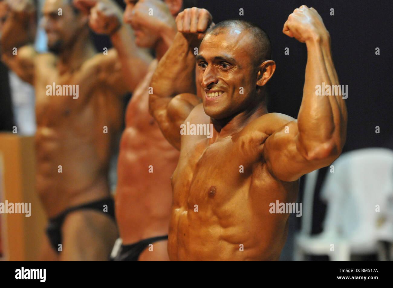 Israele, Bodybuilding regionale la concorrenza Immagini Stock