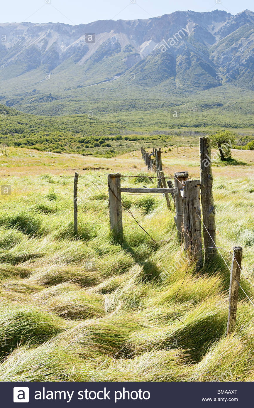 Tranquillo paesaggio rurale in Argentina Immagini Stock