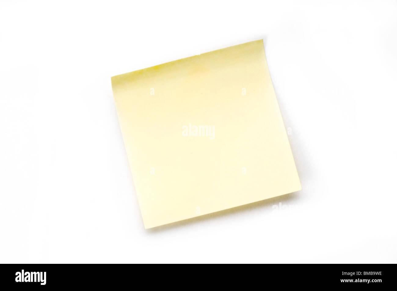 Nota adesiva su bianco Immagini Stock