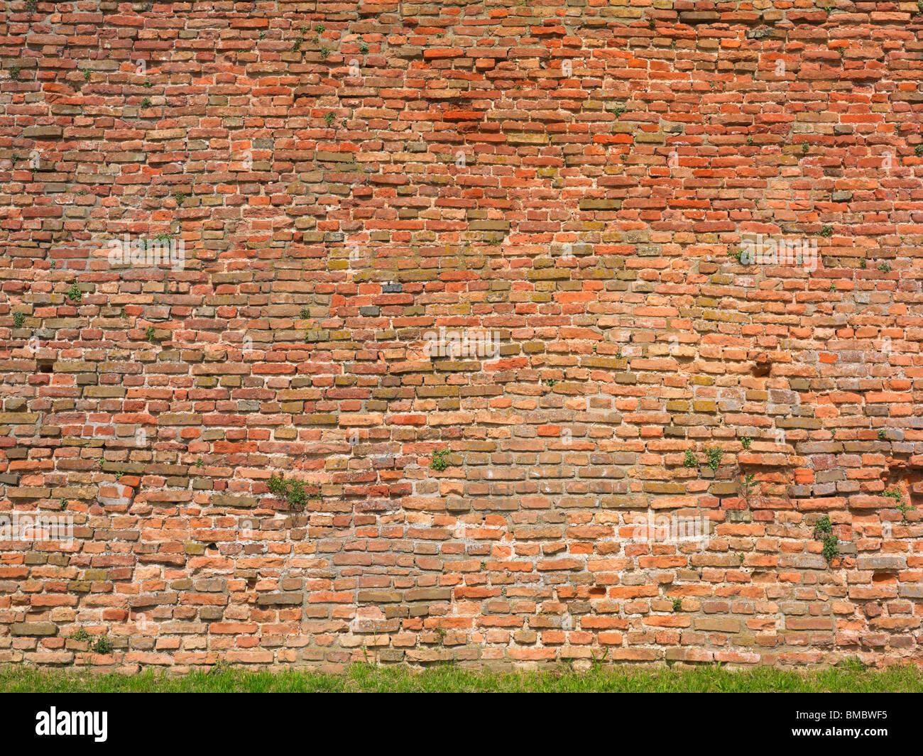 Muro di mattoni, ampia e il livello di dettaglio Immagini Stock